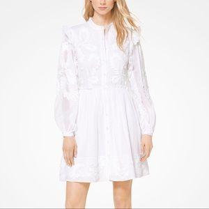 Michael Kors Embroidered Cotton Shirtdress